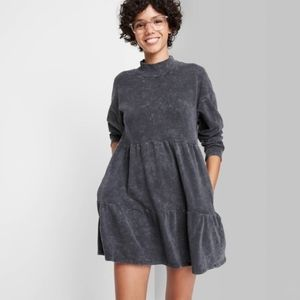 Women's Long Sleeve Sweatshirt Dress